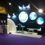 Stand visual para congreso farmacéutico