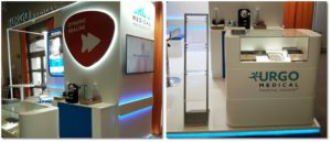 Congreso de diabetes en Italia: stand para Urgo Medical