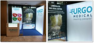 Stand con iluminación led para Urgo Medical