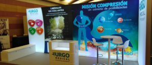 Gran stand retroiluminado para Urgo Medical